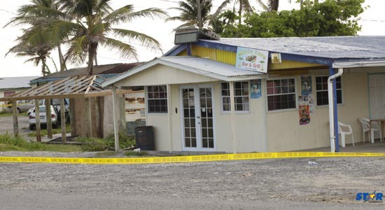 Initially police had said they were intercepting a robbery at this place in Vieux Fort before they shot and killed five young men.