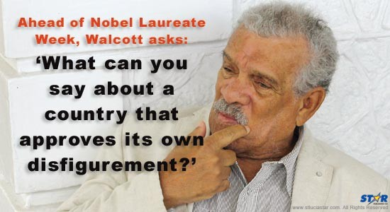 Derek Walcott comments on new development near Pitons
