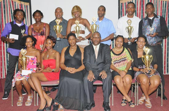 Officials and award winners at the St Lucia Volleyball Association Recognition Evening.