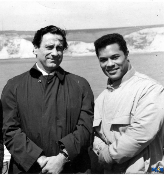 Rick Wayne with legendary publisher Joe Weider.