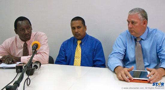 From left: Lenard Montoute, Guy Joseph and Allen Chastanet.