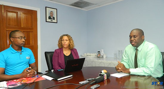 From left: Public Relations Manager of the St Lucia Tourist Board John Emmanuel, Deputy Tourism director Tracey Warner Arnold and SLTB Director Louis Lewis.
