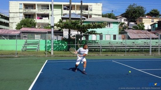 Nesbert Vaval: Just give him a racket and he'll show you how it's done!