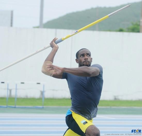 Albert Reynolds struck gold in the javelin event.
