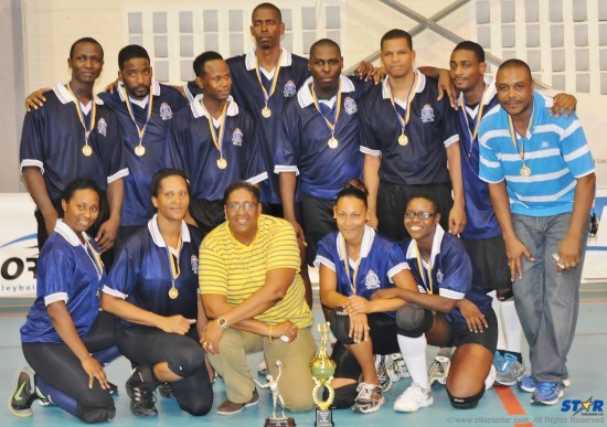 It was pride and glory when The Royal St Lucia Police Force captured the Commercial Volleyball League title.