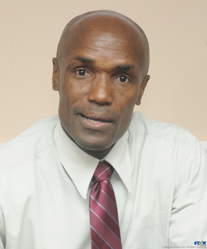 Re-elected President of the St Lucia National Cricket Association Julian Charles.