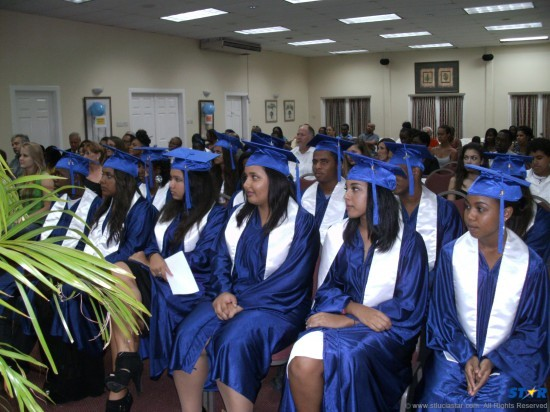 Graduation ceremony for the International School of St Lucia's Class of 2012.