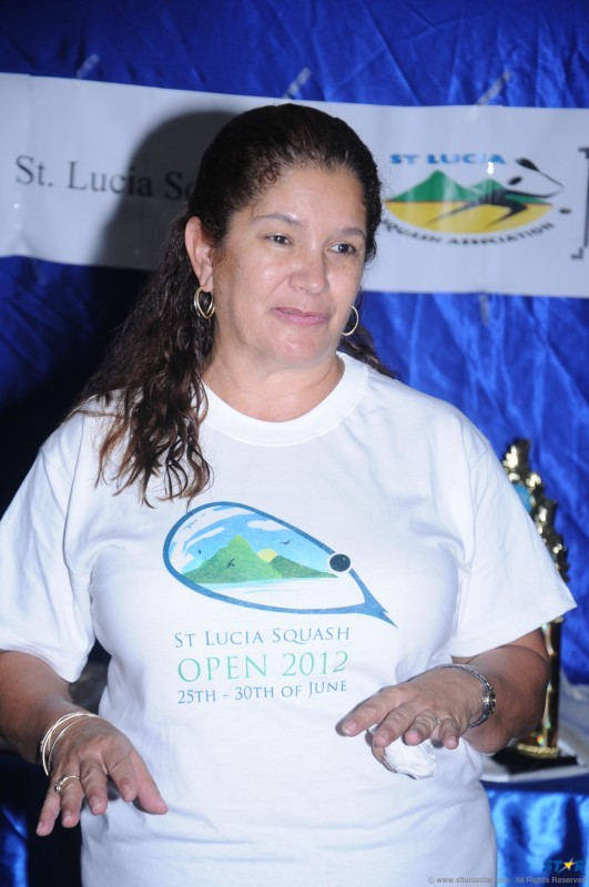 President of the St Lucia Squash Association Cheryl Renwick.