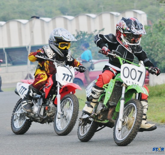 Young riders with The St Lucia Moto X Club displayed their skills on Olympic Day.