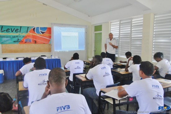 Participants in a Level One Coaches Course offered by FIVB's Volleyball Cooperation Program.