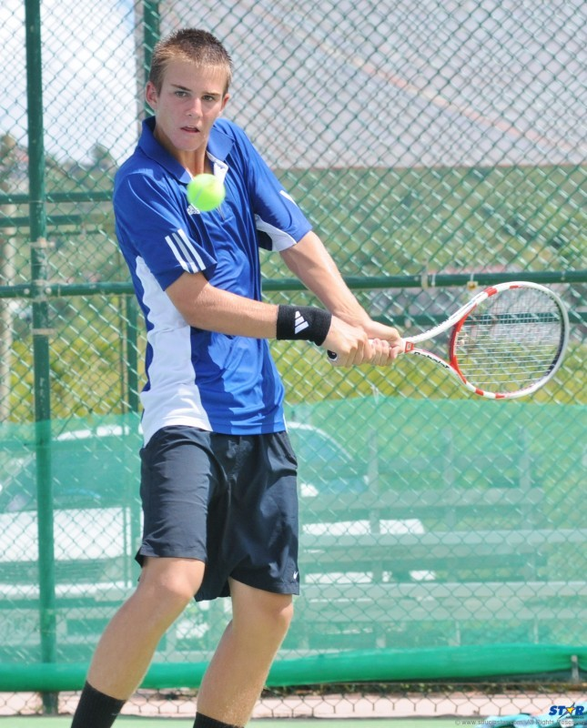 Boys 18 and Under singles champion Jean Thirouin of the USA.