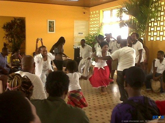 Participants of the French exchange learnt traditional folk dances.