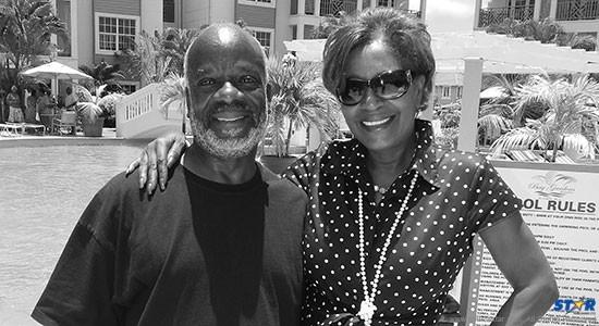 Senator Berthia Parle hosts Joseph Marcel and cast of King Lear at the charming Bay Gardens Beach Resorts.