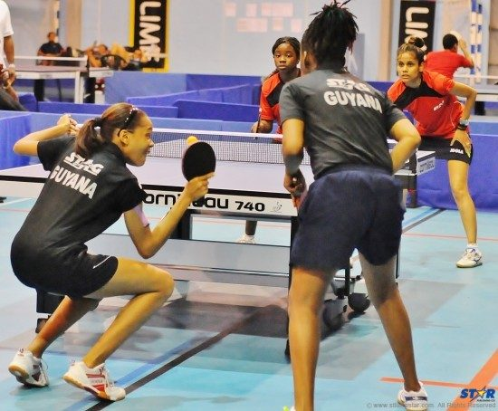 Guyana defeated Trinidad in the women's doubles competition.