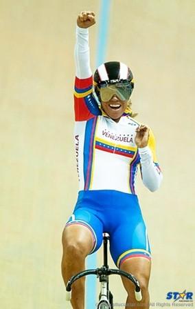 Venezuelan Cyclist Daniela Larreal.