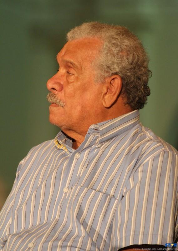 Saint Lucian Nobel Laureate Derek Walcott.