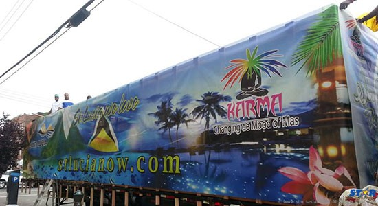 The US$30,000 Labour Day Carnival truck funded by Saint Lucian taxpayers.