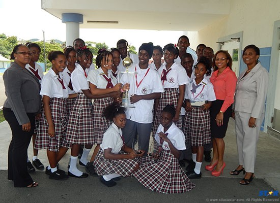 Members of the Gros-Islet Secondary School Junior Achiever Program swept the top categories at this year's ceremony.