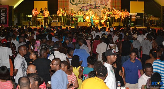 Oktoberfest drew a large crowd on Sunday.