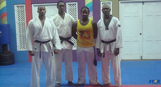 L to R: Karim Sifflet, Andre Murray, Danny Augustin and Samuel Decaille.