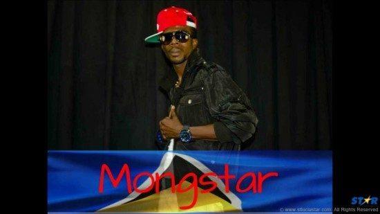 Soca artiste Mongstar representing for his homeland St Lucia.
