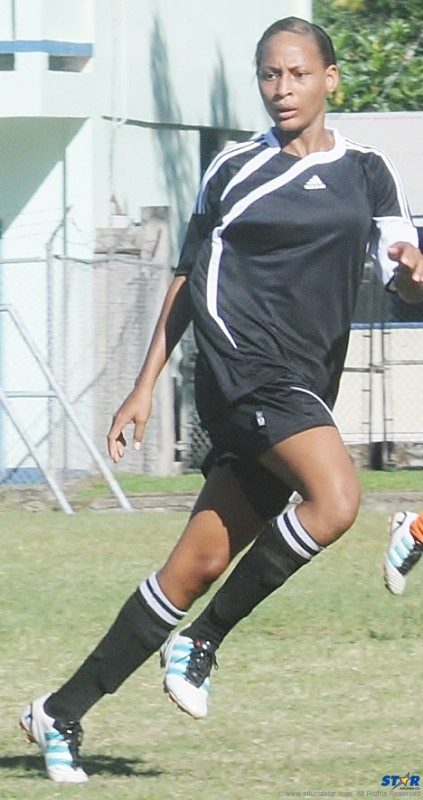 Joella Fanus played for the Amazons Soccer Club.