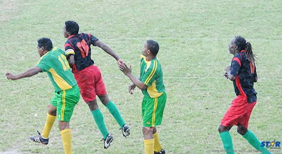 Action from a recent game between VSADC (back top) and Prophets  and Kings.