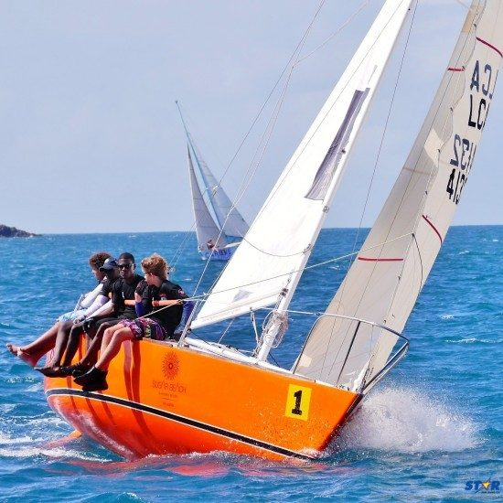 Attitude placed first in the J24 Class at the Mango Bowl Regatta.