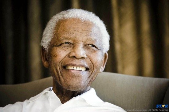 Nelson Mandela smiles during a meeting in Johannesburg in this file photo dated  2 June 2009.