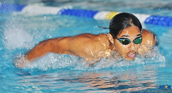 Mark Emmanus is finding success despite a lack of swimming facilities in the south of the island.