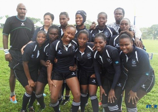 Members of the St Lucia Female Rugby Team.