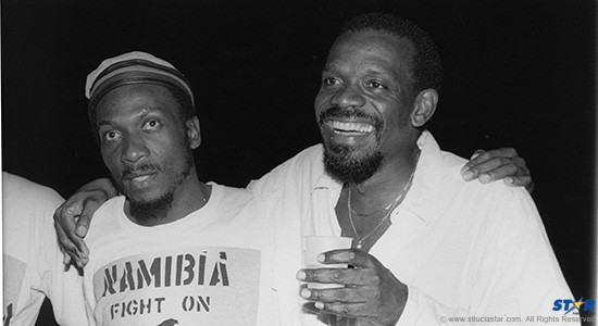 Dave Samuels, the promoter, seen here with Jamaican music icon Jimmy Cliff back in the 80's.