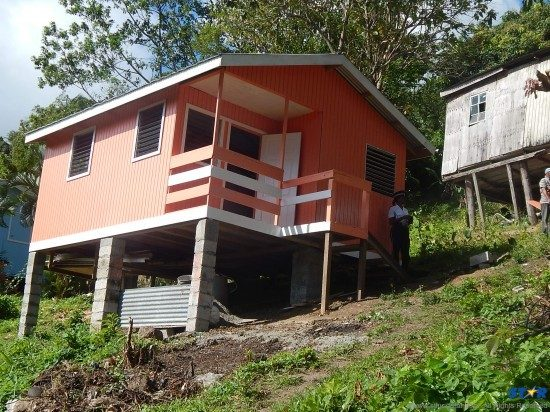 'Mr. Jerome's' newly-built 16x20 ft home at Balata.