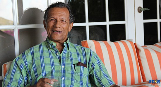 Gene Lawrence shares a drink at home as he discusses his upcoming big night at Tapas.