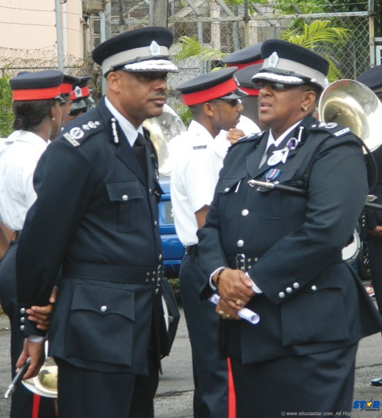 Top Cops ACP Frances Henry (right) and Police Commissioner Vernon Francois: What will  Jamaican investigation reveal about them  and the force they lead?