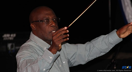 Gregory Piper conducts the RSLPB Sunday night.