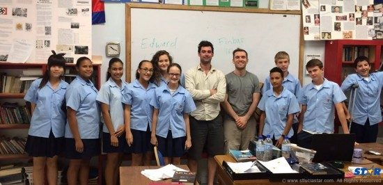 ISSL students with visitors from nonprofit organization Free The Children:  The International School student body is made up of more than 50% St Lucian students, along with others from around the world.