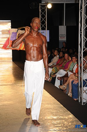 Gibson Charles and his legendary abs at Hot Couture 2013.