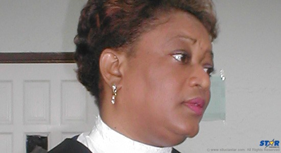 Justice Lorraine Williams: No stranger to the plight of women since her stint as St Lucia's  Attorney General and Minister of Gender Affairs.