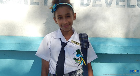Ashley Jules: one of many rays of sunshine and hope at the George Charles Secondary School.