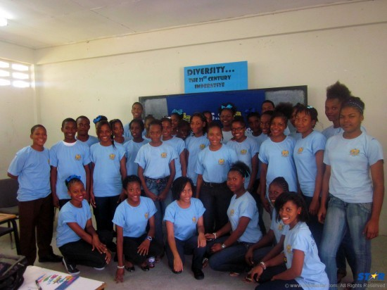 the proud Choiseul Secondary School Young Leaders.