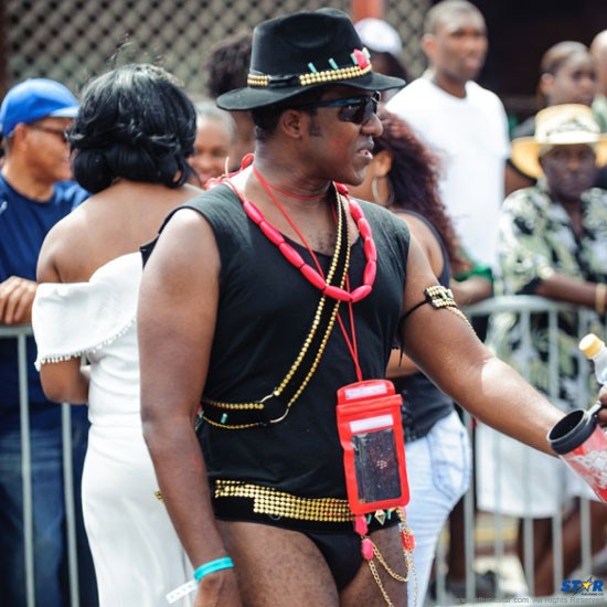 When it comes to carnival no one knows more about flashing it than Red Unlimited's Thaddeus Antoine.