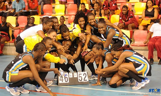 Finally! Every picture tells a story and this one of the jubilant St Lucia team is no exception. (Photo by David R Pascal)