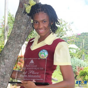 Phebe Alexander the 2014 achiever of the year at the Junior Achievement Awards.