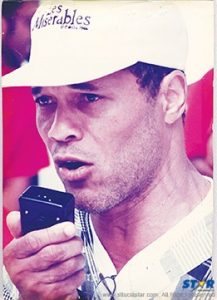 The writer addressing protesters in Constitution Park back in 1992, when the then government sought in vain to make adjustments to existing constituency boundaries. The chairman of the day's opposition Labour Party complained to the governor general that never before had he so feared for his life!