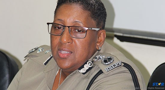 Acting Deputy Police Commissioner Frances Henry speaking at a news conference on Tuesday.