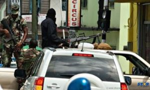 "A scene from ""Operation Restore Confidence"" underway in the city of Castries in 2011."