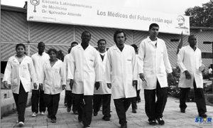 Students at the Venezuelan campus.