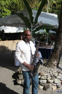 A taste of Sax on the Beach at Soufriere Creole Jazz Sponsors and Press event.