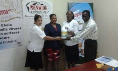 Renwick & Company Ltd donates cleaning supplies to schools